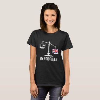 My Priorities Great Britain Tips the Scales Flag T-Shirt