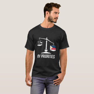 My Priorities Philippines Tips the Scales Flag T-Shirt