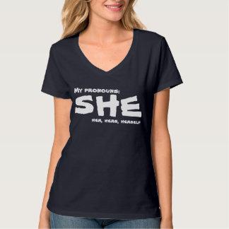 My Pronouns She T-Shirt