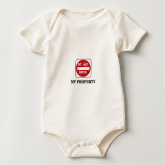 my property do not enter please baby bodysuit