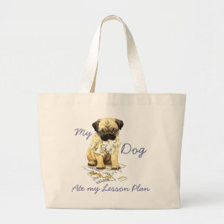 My Pug Ate My Lesson Plan Canvas Bags