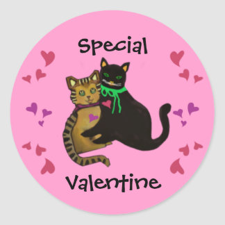 My Purrfect Valentine Classic Round Sticker