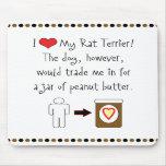 My Rat Terrier Loves Peanut Butter Mousepads