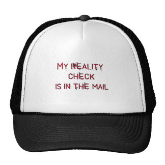 my reality check is in the mail trucker hat