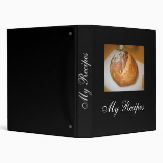 My Recipes with bread picture Vinyl Binder