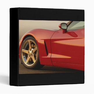 My Red Corvette 3 Ring Binder