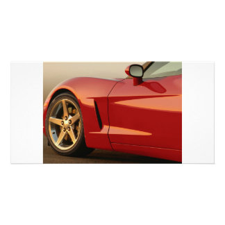 My Red Corvette Photo Greeting Card