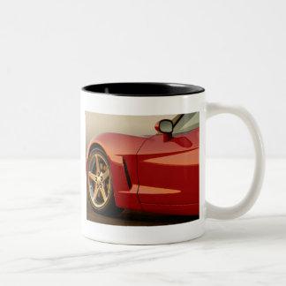 My Red Corvette Two-Tone Mug