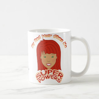 My Red Hair Gives Me SUPER POWERS Coffee Mug