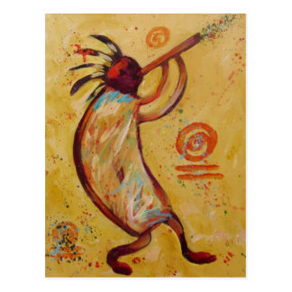 My Red Kokopelli Postcard