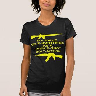 My Rifle Self Identifies As A Single Shot Bolt Act T-Shirt