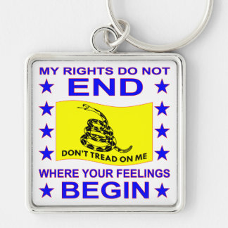 My Rights Do Not End Where Your Feelings Begin Keychain