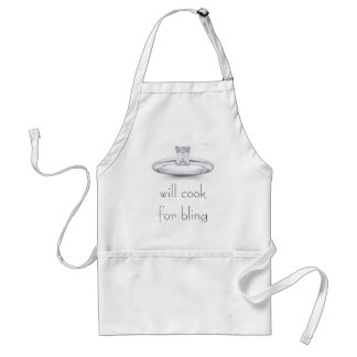 my ring, will cook for bling standard apron