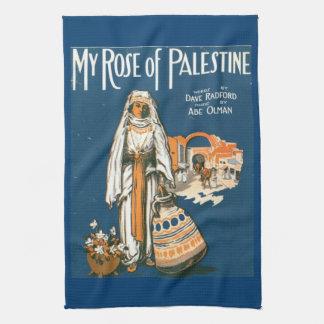 My Rose of Palestine kitchen towel