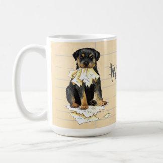 My Rottweiler Ate my Homework Coffee Mug