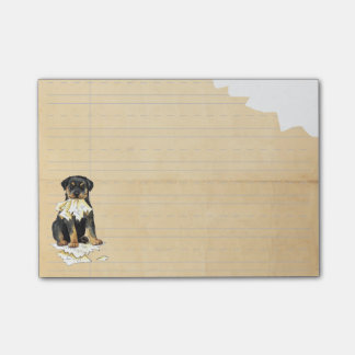 My Rottweiler Ate my Homework Post-it Notes