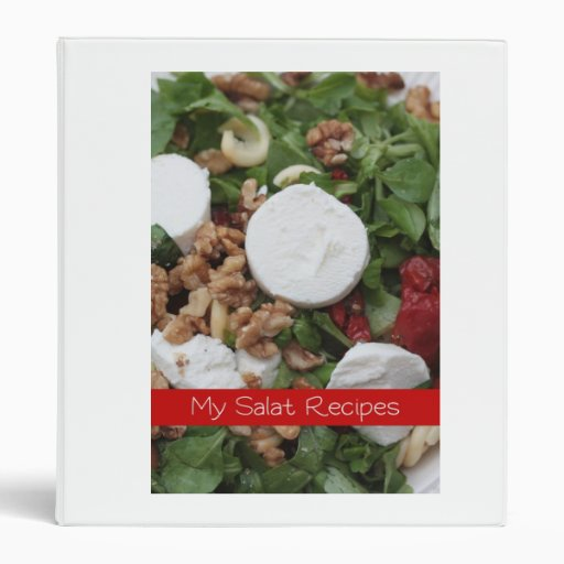 my salat recipes - binder-
