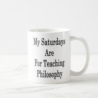 My Saturdays Are For Teaching Philosophy Coffee Mug