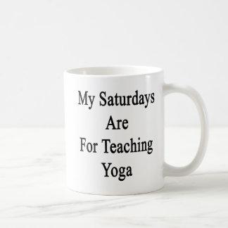 My Saturdays Are For Teaching Yoga Coffee Mug
