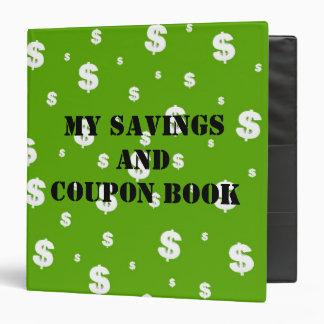 My Savings and Coupon Book Binder