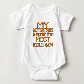 MY SCOTTISH TERRIER IS SMARTER THAN MOST PEOPLE I BABY BODYSUIT