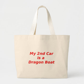 My Second Car is a Dragon Boat Large Tote Bag