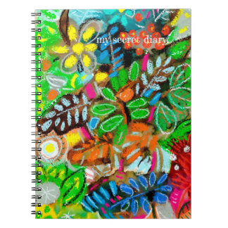 my secret diary green notebook