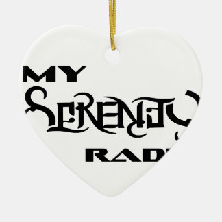 My Serenity Radio Products Support Vets Ceramic Ornament