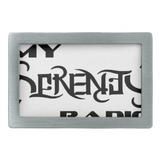 My Serenity Radio Products Support Vets Rectangular Belt Buckles