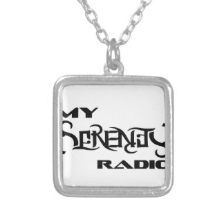 My Serenity Radio Products Support Vets Silver Plated Necklace