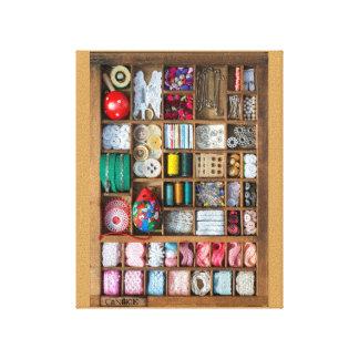 My sewing small box canvas print