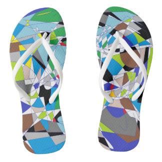 My shattered World Flip Flops