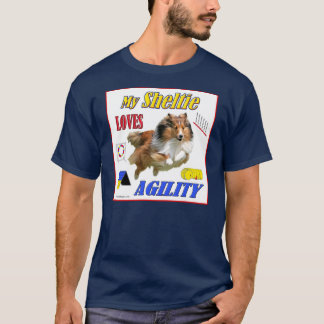 My Sheltie Loves Agility design- Sable T-Shirt