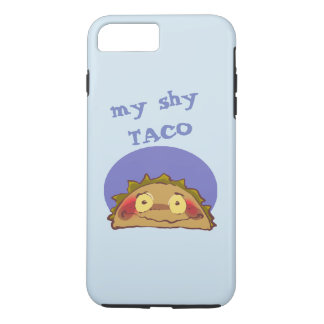 my shy taco funny cartoon iPhone 8 plus/7 plus case