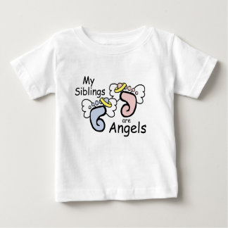 My Siblings Are Angels Baby T-Shirt
