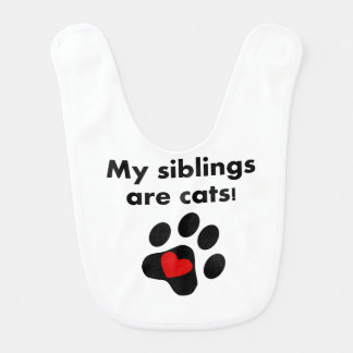 My Siblings Are Cats Bibs