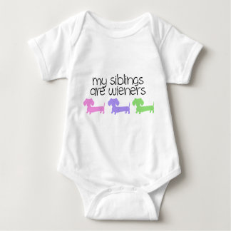 My Siblings are Wieners | 3 Dachshunds design T Shirt