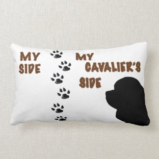 My Side & My Cavalier's Side Pillow With Paw Print