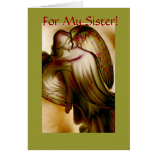 My Sister - Angel Greeting Card