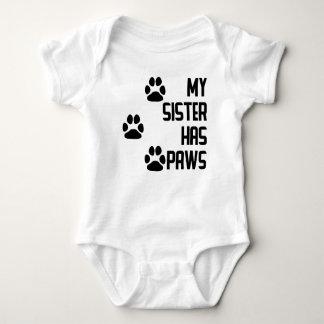 My Sister Has Paws Baby Bodysuit