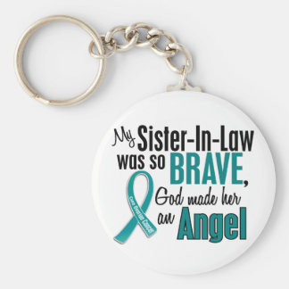 My Sister-In-Law Is An Angel 1 Ovarian Cancer Key Chain