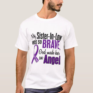 My Sister-In-Law Is An Angel Pancreatic Cancer T-Shirt