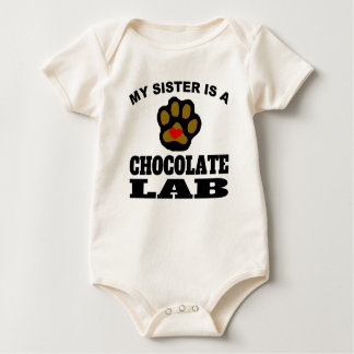 My Sister Is A Chocolate Lab Baby Bodysuit