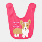 My sister is a Corgi! Baby Bib