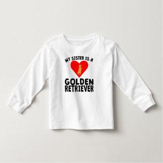 My Sister Is A Golden Retriever Toddler T-shirt