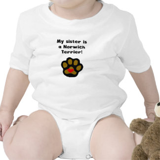 My Sister Is A Norwich Terrier Baby Bodysuits