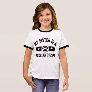 My Sister Is A Siberian Husky Ringer T-Shirt
