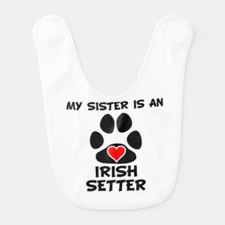 My Sister Is An Irish Setter Baby Bibs