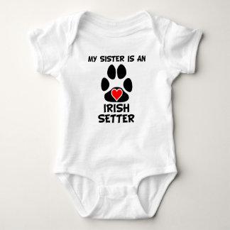My Sister Is An Irish Setter Baby Bodysuit
