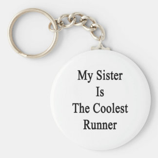 My Sister Is The Coolest Runner Keychain